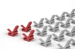 CNY vermelho Imagem de Stock