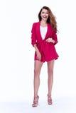 Coágulo moreno atractivo hermoso de la moda del estilo de la oficina de negocios de la mujer imagen de archivo libre de regalías