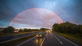 Coïncidence avec le double arc-en-ciel image libre de droits