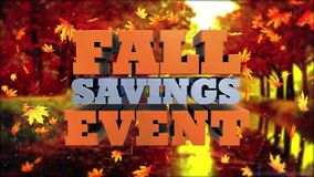 Событие сбережений падения - реклама и маркетинг выдвиженческие
