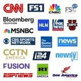 Собрание логотипа вектора сетей новостей кабельного телевидения Соединенных Штатов бесплатная иллюстрация