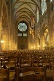 Собор Внутренн Нотр-Дам de Страсбург стоковые изображения rf