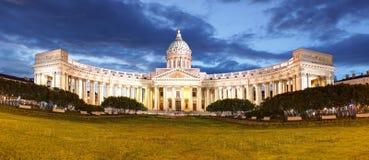 Собор Казань в Ст Петерсбург, России стоковая фотография rf