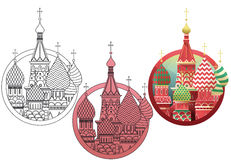 Собор Покрова что на Рву, Москва. Vectors of Europeans monuments Stock Photo