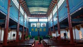 Собор священного сердца главная католическая церковь Dali, Юньнань, Китая стоковые фотографии rf