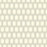 Современная стильная повторяя геометрическая текстура monochrome форм вариантов шестиугольника в форме решетки Простой и модный иллюстрация вектора