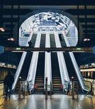 Современное метро в Будапеште стоковая фотография