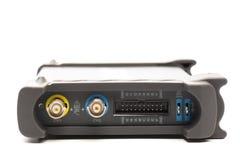 Соединитель входного сигнала BNC осциллографа цифрового сигнала стоковое фото rf