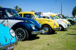 Солнечное шоу автомобиля стоковое изображение rf