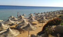 Солнце, пляж и безбрежное море лучший отдых для души и тела royalty free stock images