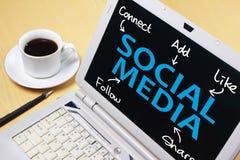 Социальная концепция оформления слов средств массовой информации стоковые фото