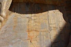 Сочинительства на стенах Persepolis сделали старыми путешественниками стоковые фото