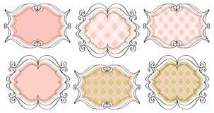 Coördinerende frames royalty-vrije illustratie