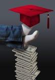 Coût élevé de concept d'éducation Photographie stock libre de droits