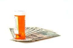 Coût élevé de prescriptions Photographie stock