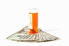 Coût élevé de prescriptions Photos stock