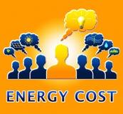 Coût énergetique montrant l'illustration d'Electric Power 3d Photographie stock libre de droits