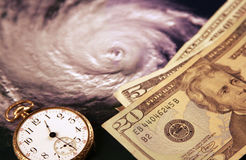 Coût d'un ouragan Image libre de droits