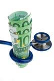 Coût de santé avec l'euro   Images stock