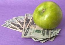 Coût de soins de santé ou de nourriture d'éducation Image stock