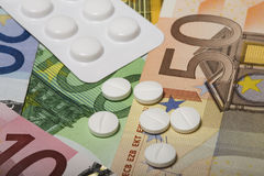 Coûts de demande de règlement médicale Photos stock