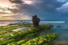 Co撒奇海滩的巨石城,Tuy Phong,Binh Thuan,越南 免版税库存照片