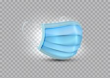 3d realistic vector safety breathing mask, hospital breathing medical respiratory face mask. Covid-19 protection. Surgical Mask
