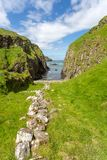 Co. Antrim`s Rolling Hills. Co. Antrim, N. Ireland/United Kingdom - June 2, 2015: On the north coast of northern Ireland in County Antrim the hills roll right royalty free stock photos