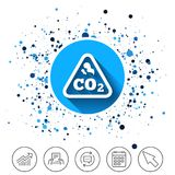 CO2 carbon dioxide formula sign icon. Chemistry. stock illustration