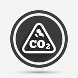 CO2 carbon dioxide formula sign icon. Chemistry. Stock Photos