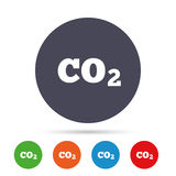 CO2 carbon dioxide formula sign icon. Chemistry. Royalty Free Stock Photo