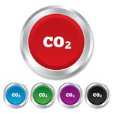 CO2 carbon dioxide formula sign icon. Chemistry Stock Image