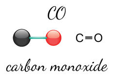 CO carbon monoxide molecule Royalty Free Stock Images