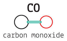 CO carbon monoxide molecule Royalty Free Stock Image