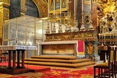 A Co-catedral de St John da igreja, Valletta imagem de stock royalty free