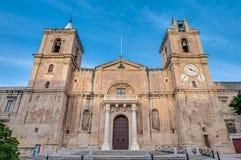 Co-catedral del ` s de San Juan en La Valeta, Malta foto de archivo
