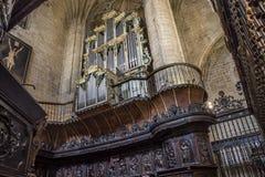 Co-cathédrale de Santa Maria de la Redonda de Logroño, Espagne photos stock