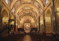 Co-cathédrale de St Johns à l'intérieur, La La Valette, Malte Image libre de droits