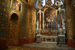 Co-cathedral chapel. A chapel inside the historic co-cathedral at la valletta on malta island Royalty Free Stock Image