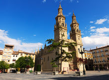 Co-Cathedral of Saint Maria de la Redonda in  Logrono Stock Photography