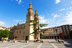 Co-Cathedral of Saint Maria de la Redonda in  Logrono Stock Image