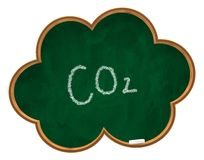 Co2 on chalkboard Royalty Free Stock Image