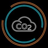 Co2 cloud icon natural ecology, clean environment royalty free illustration