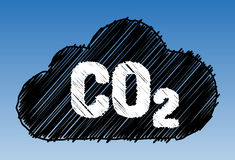 CO2 cloud pen style Stock Photos
