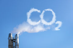 CO2 in the clouds Royalty Free Stock Photography