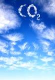 CO2 del símbolo de las nubes Imagen de archivo libre de regalías