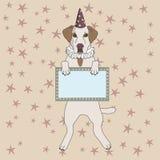 Cão do circo Fotografia de Stock Royalty Free