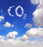 CO2 do símbolo das nuvens fotografia de stock royalty free