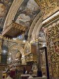 Co-domkyrkan av St John i Malta Arkivbild