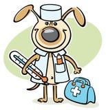 Cão dos desenhos animados - doutor veterinário Fotos de Stock Royalty Free